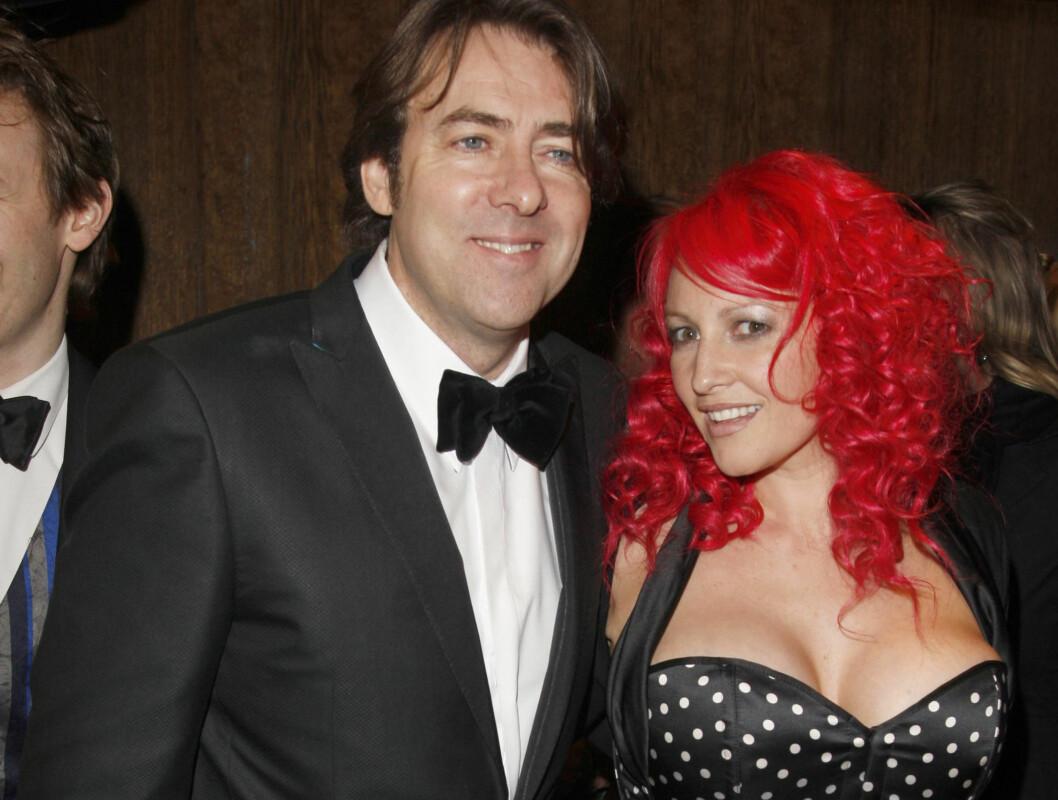 TILBAKE: Jonathan Ross og kona Jane Goldman på BAFTA. Han er tilgitt etter sex-skandalen. Foto: All Over Press