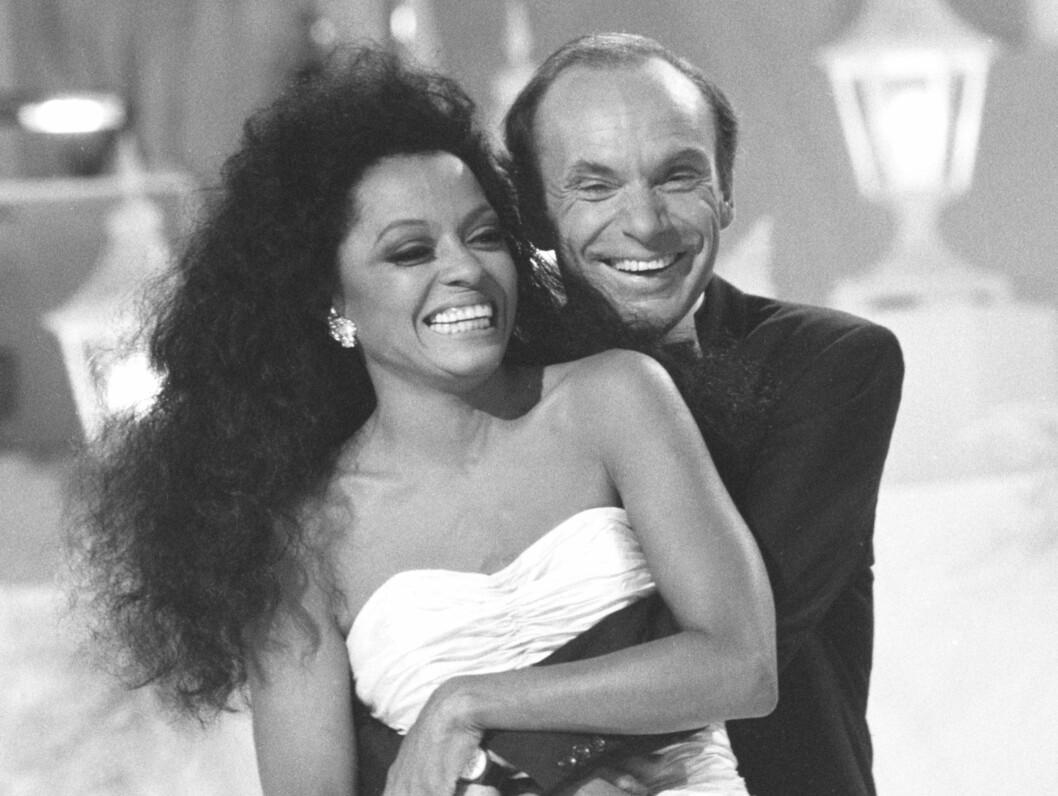 VAKKER KONE: Diana Ross var gift med den norske forretningsmannen, levemannen og fjellklatreren Arne Næss jr fra 1985 til 1999. Næss omkom i en fjellklatrerulykke i 2004. Foto: SCANPIX