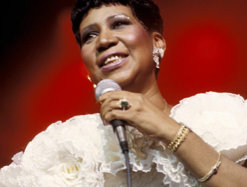 GAVE FRA GUD: Aretha Franklin topper listen over de hundre beste sangerne. Foto: Stella Pictures