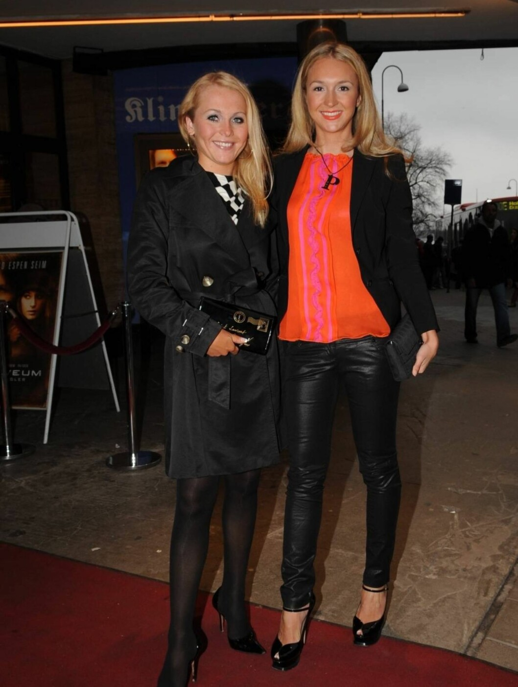 """DANSVENNINNE: Premiere på """"Varg Veum"""" på Klingenberg kino i Oslo. Pia Haraldsen har fått med seg """"Skal vi danse""""-stjernen Gyda Bloch Thorsen som rød løper-venninne. Foto: Stella Pictures"""