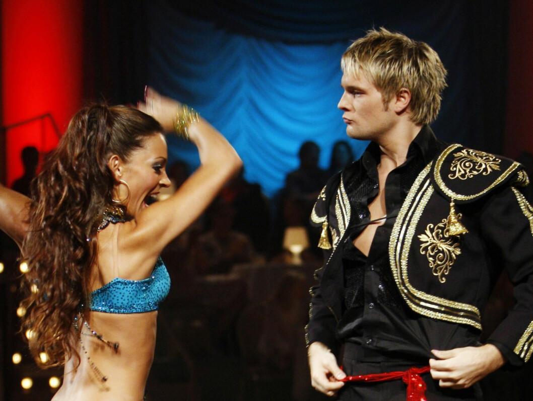 LITT MYE TRUTMUNN: Gaute Ormåsen og  Elena Bokoreva Wiulsrud danset paso doble til melodien The Spaniard that blighted my life. Foto: SCANPIX