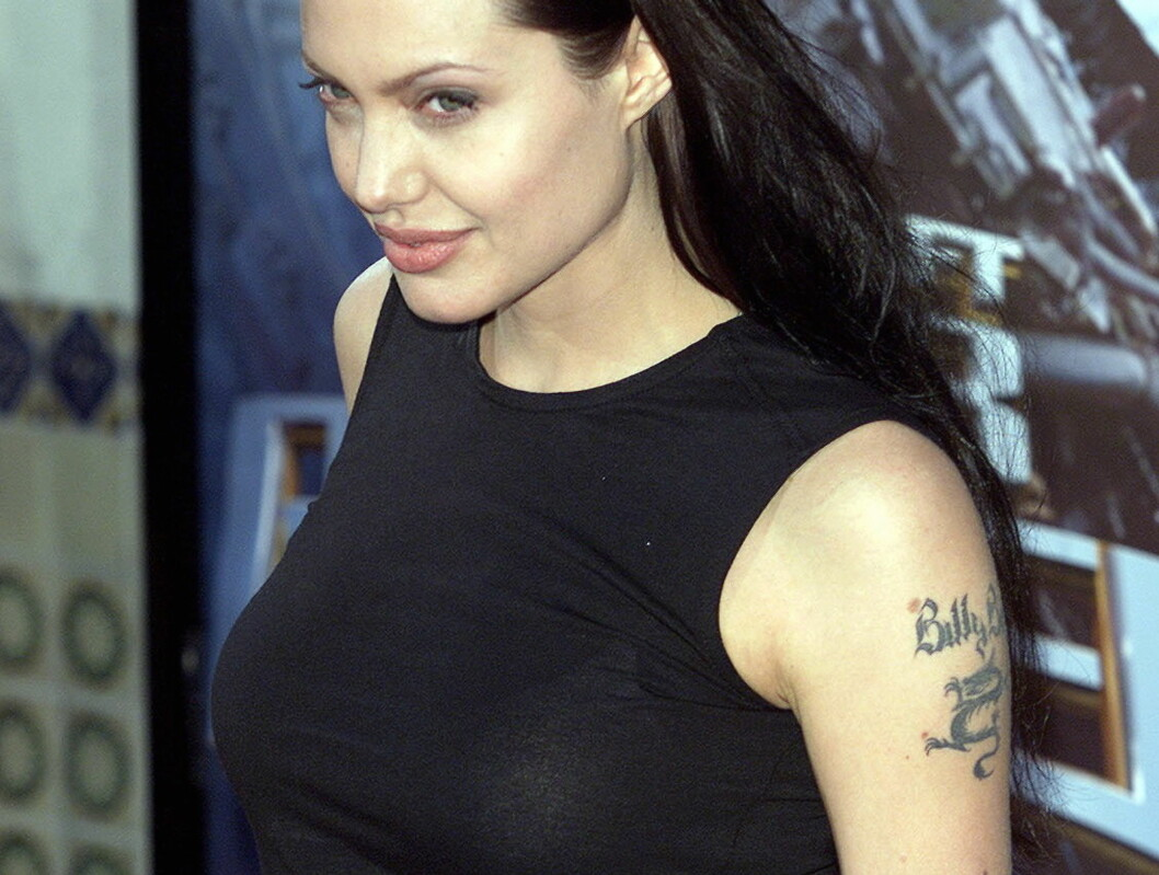 <strong>FORELSKET:</strong> Angelina Jolie falt pladask for Billy Bob Thornton - og villie vise det til hele verden. Bare sjekk tatoveringen! Foto: All Over Press