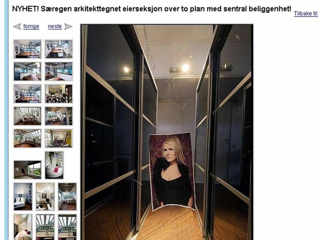 LITE DISKRET: Bilder av sexeksperten var strategisk plasert rundt i huset på bildene som ble lagt ut på Finn.no. Foto: Finn.no