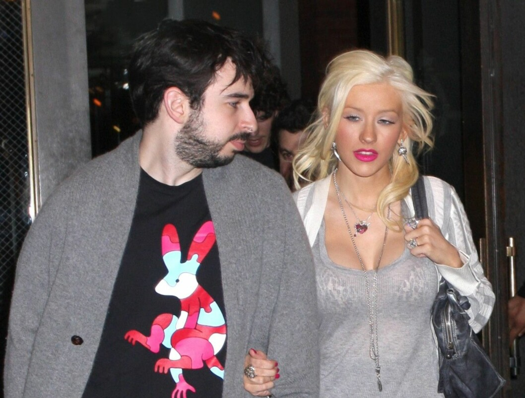 IMPONERT: Christina Aguilera forteller at ektemannen Jordan Bratman elsker den nye kløften hennes. Foto: All Over Press