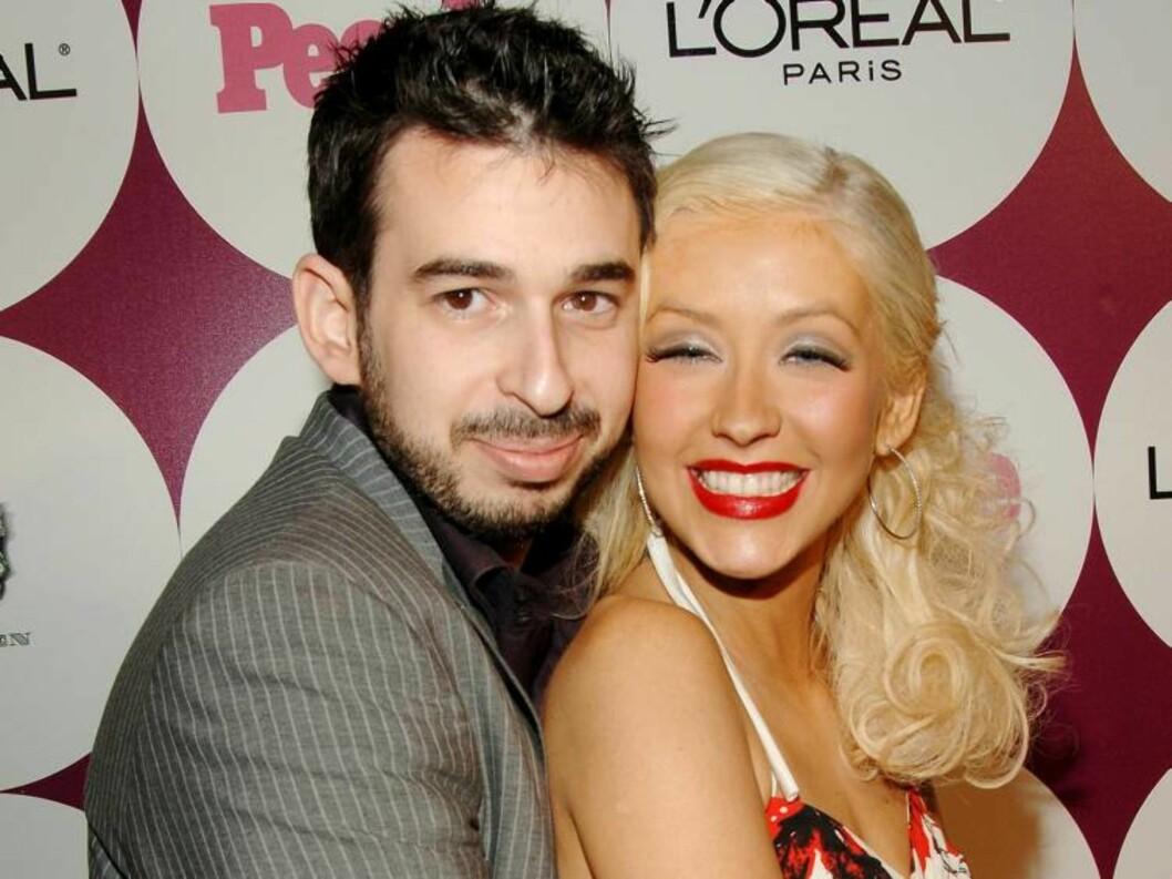 SVÆRT LYKKELIGE: Christina Aguilera og Jordan Bratman har ingenting å klage på. Foto: All Over Press