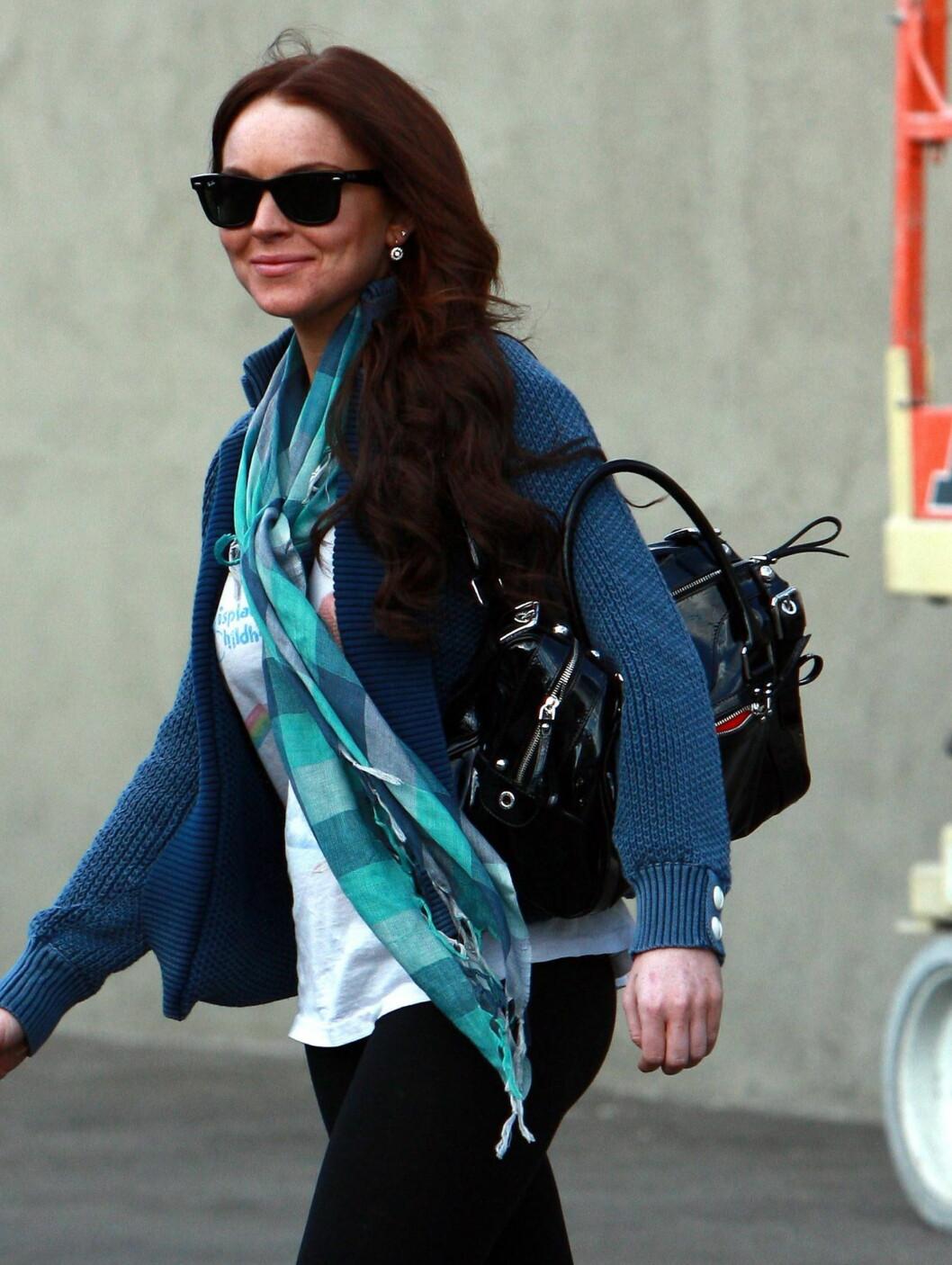 """""""Mean Girls""""-skuespiller Lindsay Lohan har ofte blitt kåret til en av verdens verst kledde. Foto: All Over Press"""