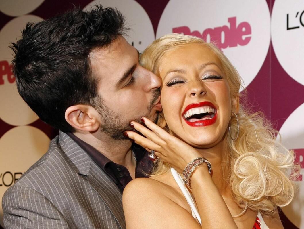 NAKNE PÅ SØNDAGER: Christina Aguilera og ektemannen Jordan Bratman har et noe spesielt forhold til søndager... Foto: AP/Scanpix