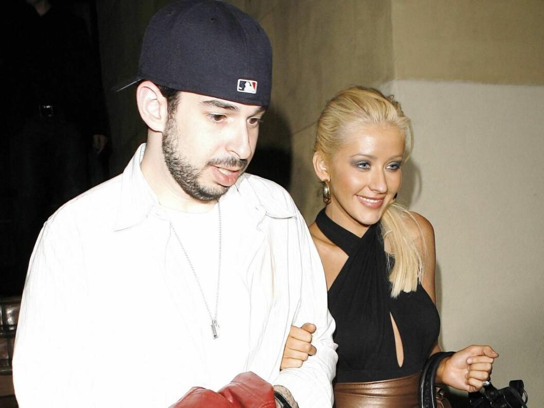 PAPPA OG MAMMA: Christina Aguilera og Jordan Bratman ble foreldre 12. januar. Nå får de gjennomgå. Foto: All Over Press