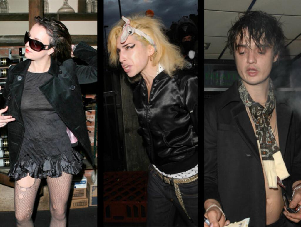 HARDT LIV: Britney Spears, Amy Winehouse og Pete Doherty er tre unge mennesker som kan bli offer for en tidlig død med det livet de lever i dag. Foto: All over