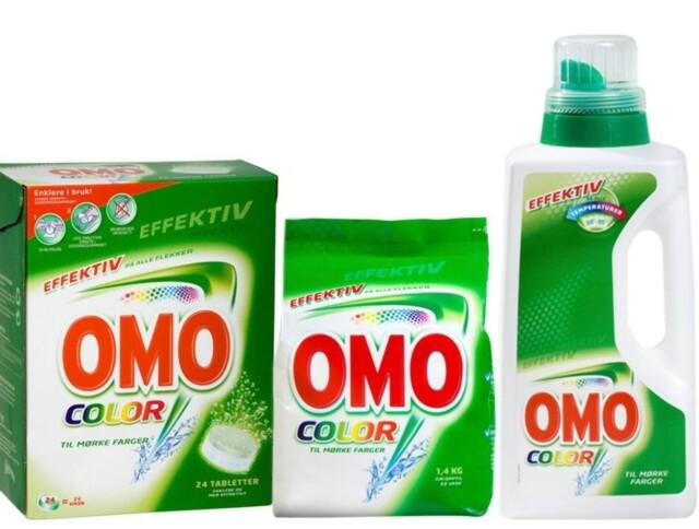 a3a3a380 OMO Color og OMO Ultra hvitt finnes som pulver, tabletter og flytende  vaskemiddel