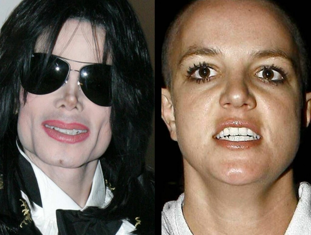 GAL OG GALERE?: Michael Jackson og Britney Spears er på denne lista... Foto: All Over Press