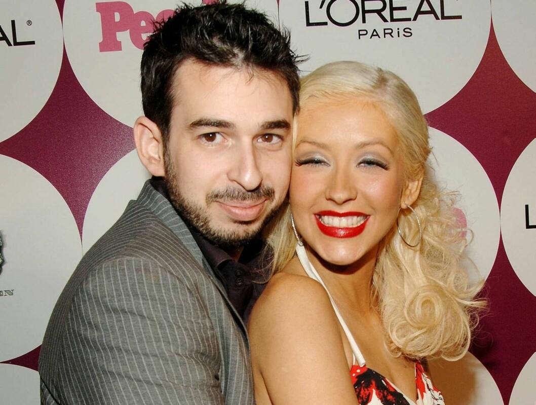 SNART FORELDRE: Christina Aguilera og ektemannen Jordan Bratman venter sitt første barn i desember. Foto: All Over Press