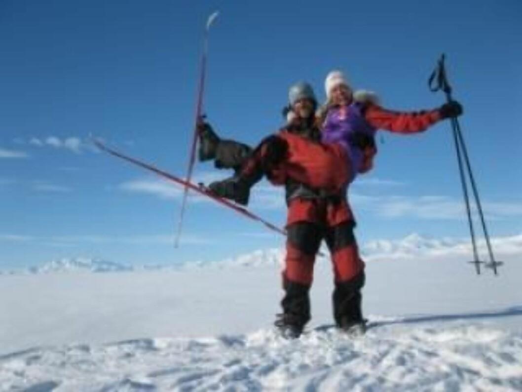 <strong>I MÅL:</strong> Cecilie Skog (35) og Ryan Waters (36). Foto: Privat