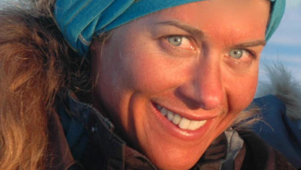 <strong>- FANTASTISK:</strong> Cecilie Skog (35) er fornøyd med den historiske ekspedisjonen til Antarktis. Foto: Privat