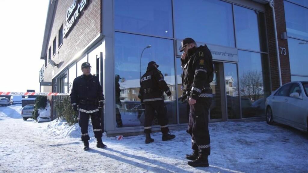 ÅSTEDET:  Skytingen skal ha skjedd ved en bilforretning i Oslo. Foto: Svein Gustav Wilhelmsen