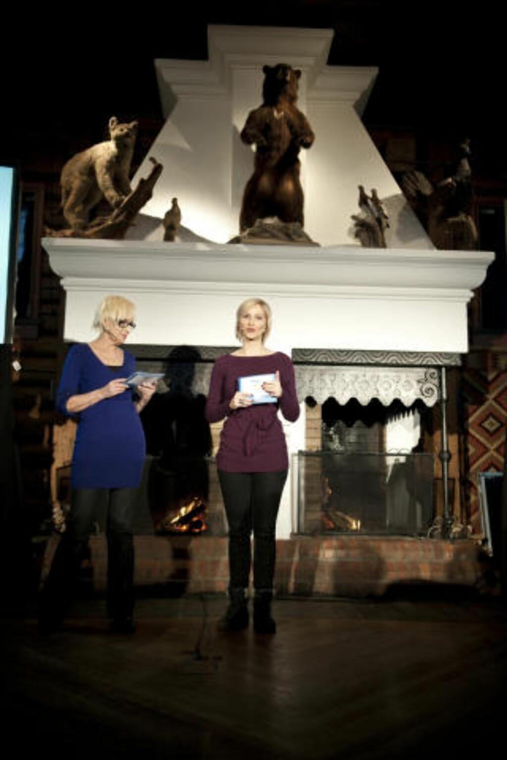 NRK OL=SANT: Karen Marie Ellefsen og Anne Rimmen presenterte NRKs planer under OL. Foto: Øistein Norum Monsen