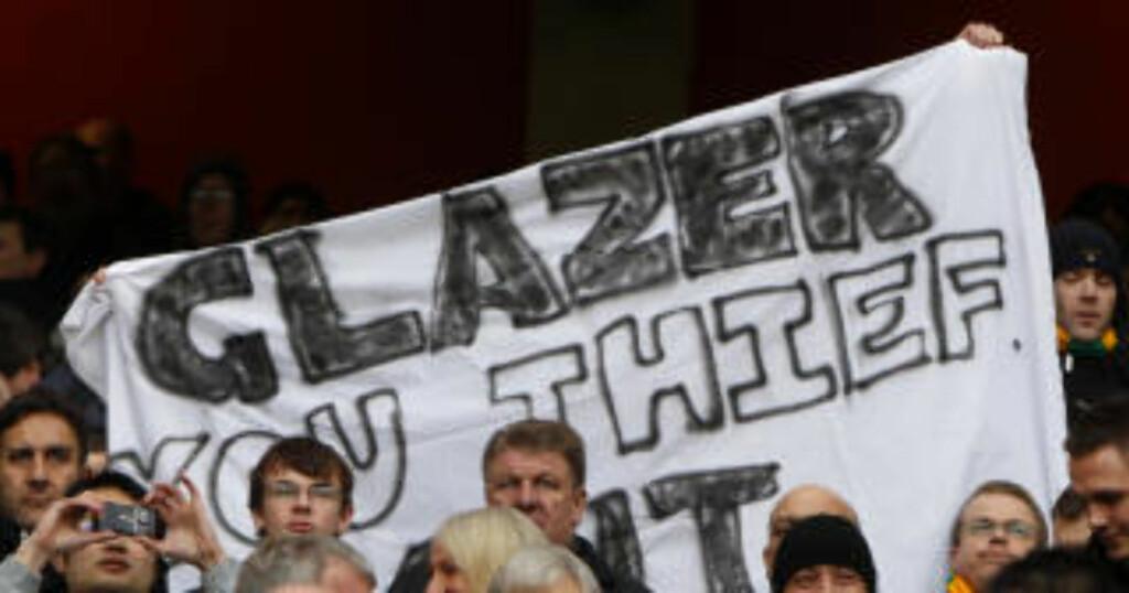 VIL KJØPE: Rike United-fans brygger på planer om å kjøpe hjem klubben fra Malcolm Glazer. Foto: REUTERS/Eddie Keogh