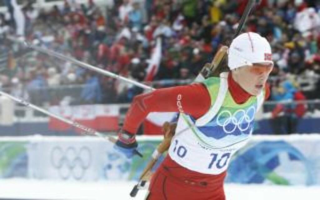 ÅTTE: Ann Kristin Flatland var veldig fornøyd med sitt løp, hun også. Foto: Heiko Junge / Scanpix