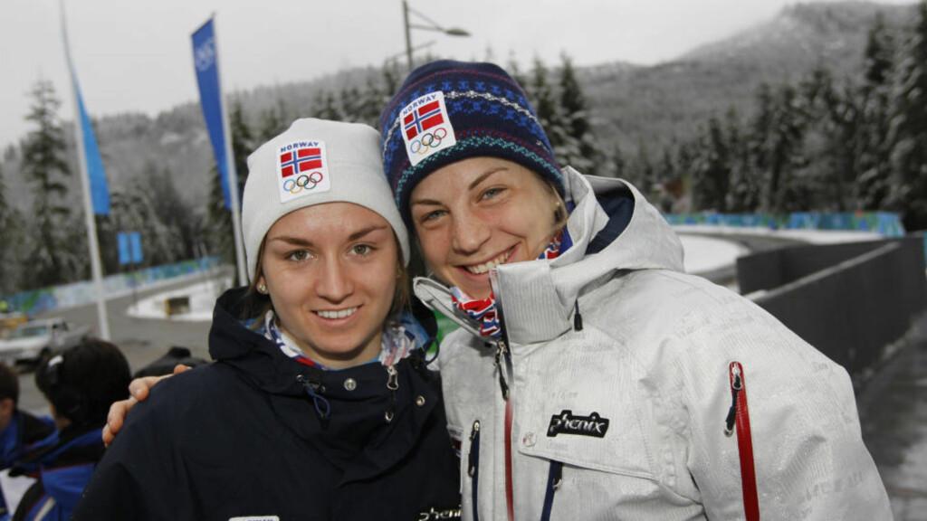 SPRINTHÅP: Celine Brun-Lie og Astrid Uhrenholdt Jacobsen er ikke regnet som opplagte medaljekandidater i dag - men har ikke reist til OL som turister.  Foto: Cornelius Poppe / Scanpix