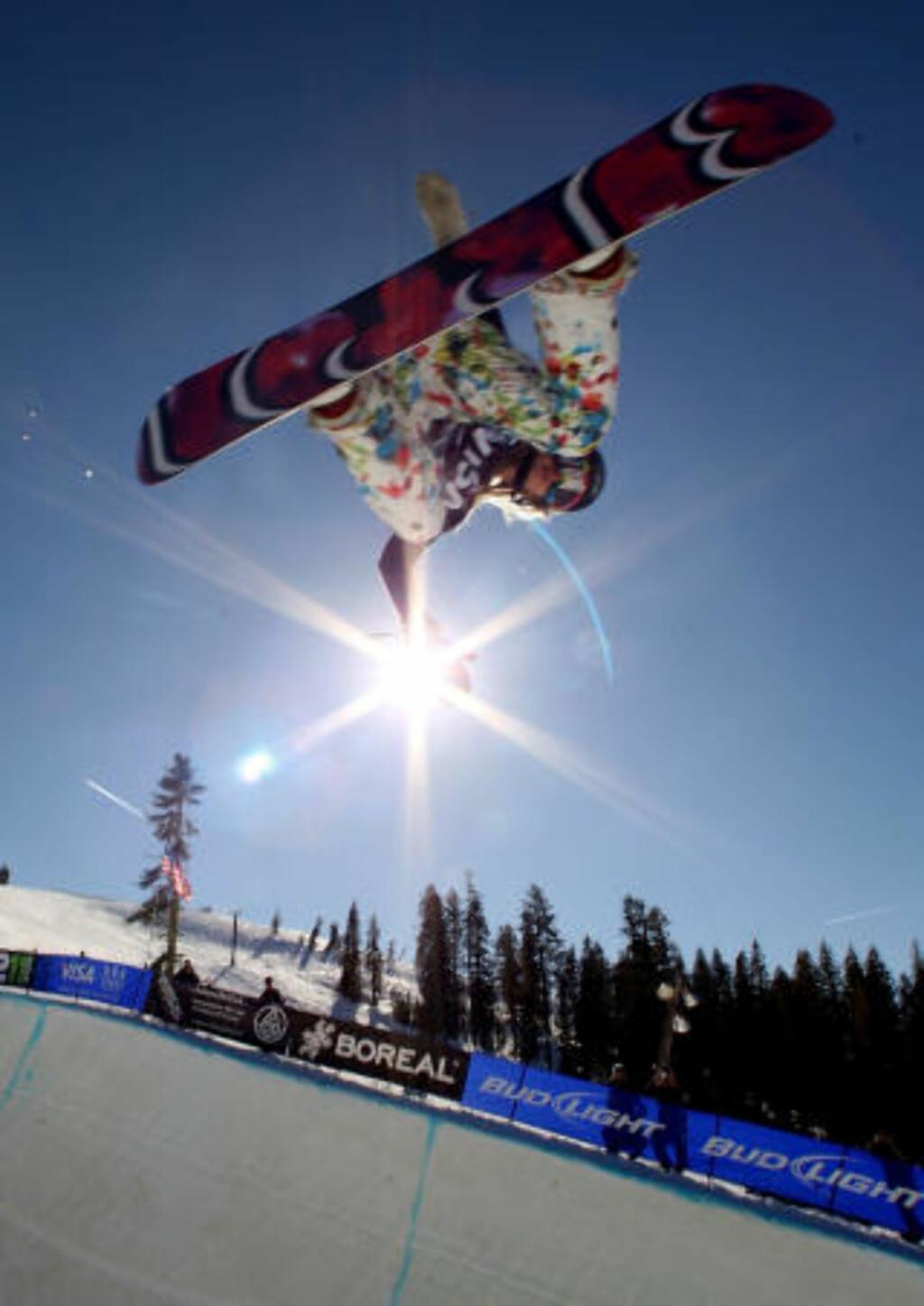REGJERENDE MESTER: Hannah Teter skal i natt forsvare OL-gullet hun tok i Tornio 2006. Foto: AFP