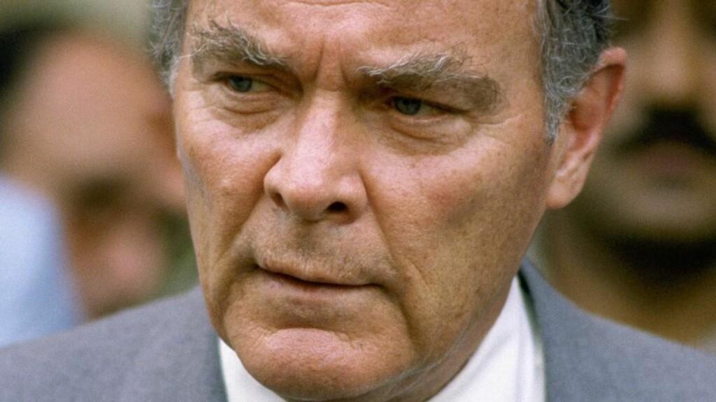BILDET FRA 1981:  Åtte år senere forsøkte han å stille opp som presidentkandidat for Republikanerne i USA, men Alexander Haig tapte.  Foto: SCANPIX/AP Photo/Bill Foley