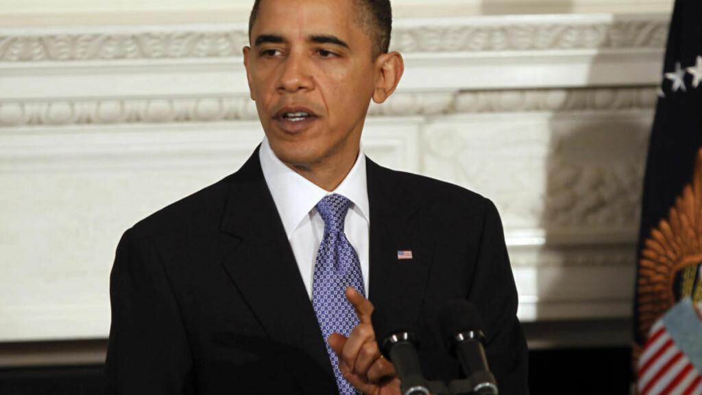 SISTE SJANSE: President Barack Obama har lagt fram et forslag til kompromiss om helsereform. Foto: REUTERS / Jason Reed / SCANPIX