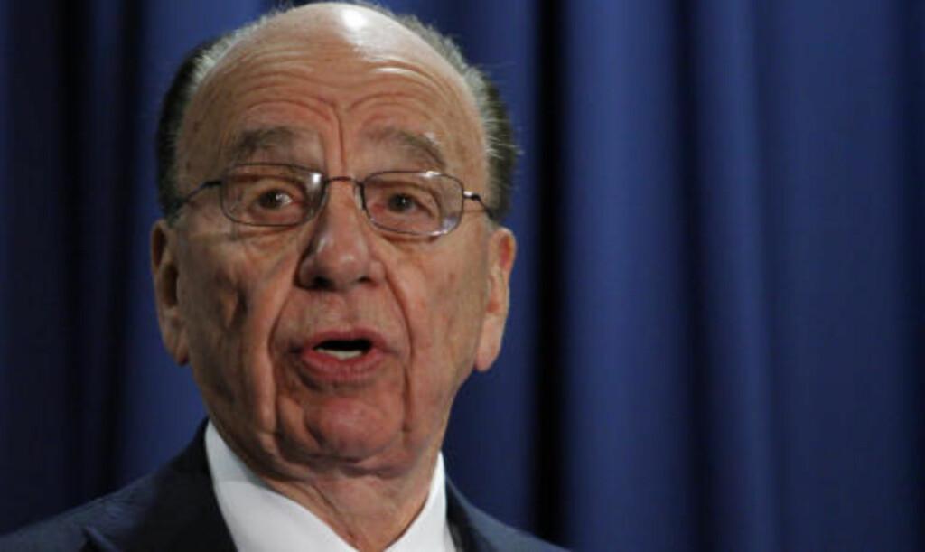SLAKTES: Parlamentarikere slakter News of The Words avlytting av kjendiser, kongelige og regjeringstopper. Nå kan Rupert Murdochs (bildet) medieimperium få juridiske sanksjoner. Foto: REUTERS/Jason Reed/SCANPIX