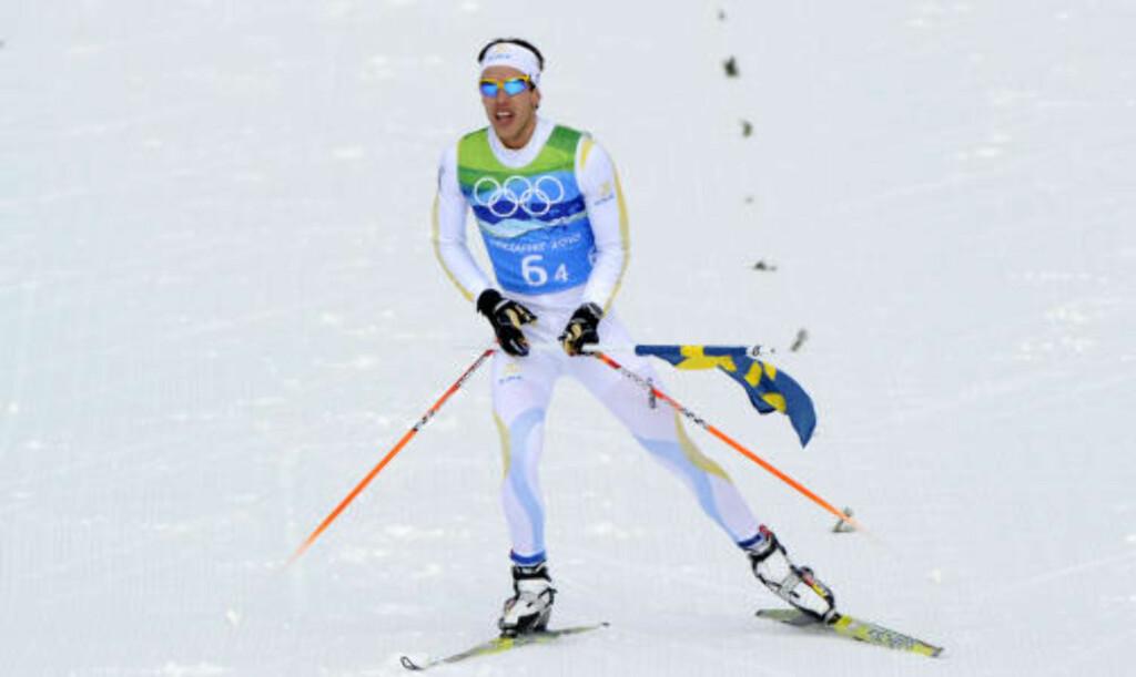 SUVERENE: Marcus Hellner avsluttet jobben for et sterkt svensk lag.Foto: SCANPIX/AFP / JAVIER SORIANO