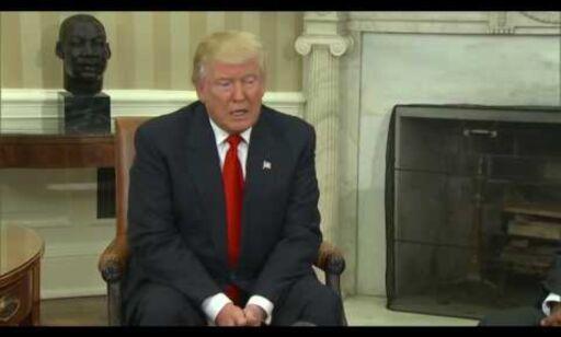 image: Her møtes Trump og Obama i Det hvite hus
