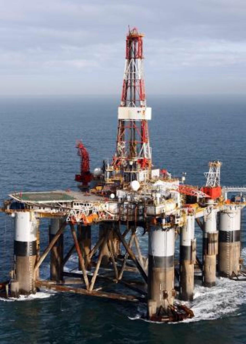 STRIDENS KJERNE: Leteriggen Ocean Guardian er på vei til et havområde nord for Falklandsøyene der britene vil lete etter olje. Feltet kan skjule svar gull for hele 550 milliarder kroner. Foto:AP