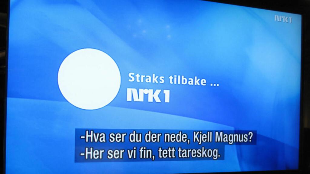 NEIDA, VI SER INGENTING: Ifølge teksten skulle NRK by på fin, tett tareskog. Foto: Arne V. Hoem
