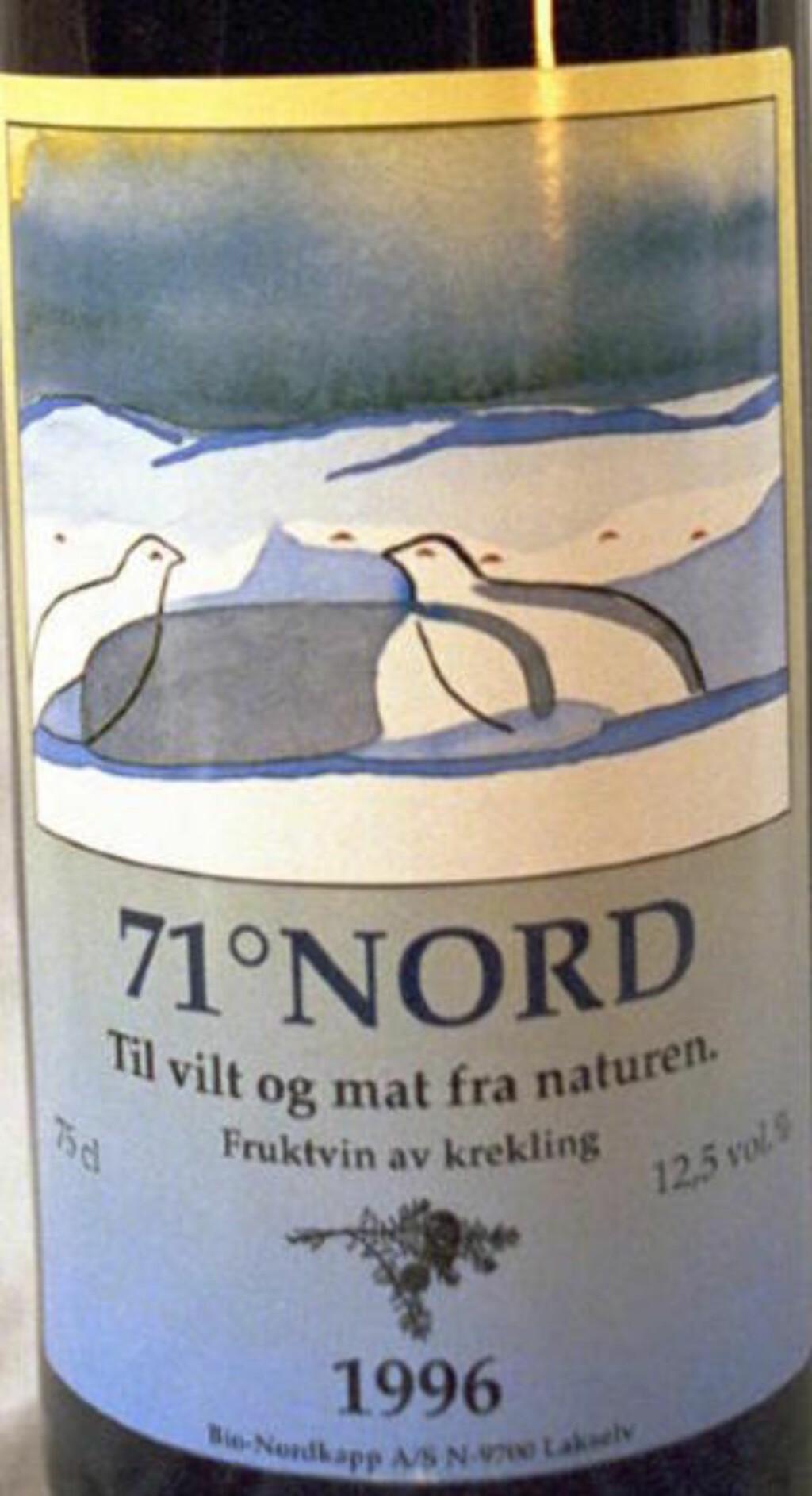 KREKLING: Norsk fruktvin laget av Krekling. Foto: Bjørn Lyng
