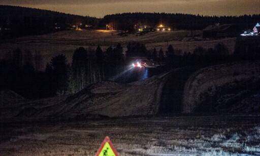 SØK: Torsdag kveld ble det søkt i sydenden av raset. Foto: Thomas Rasmus Skaug / Dagbladet
