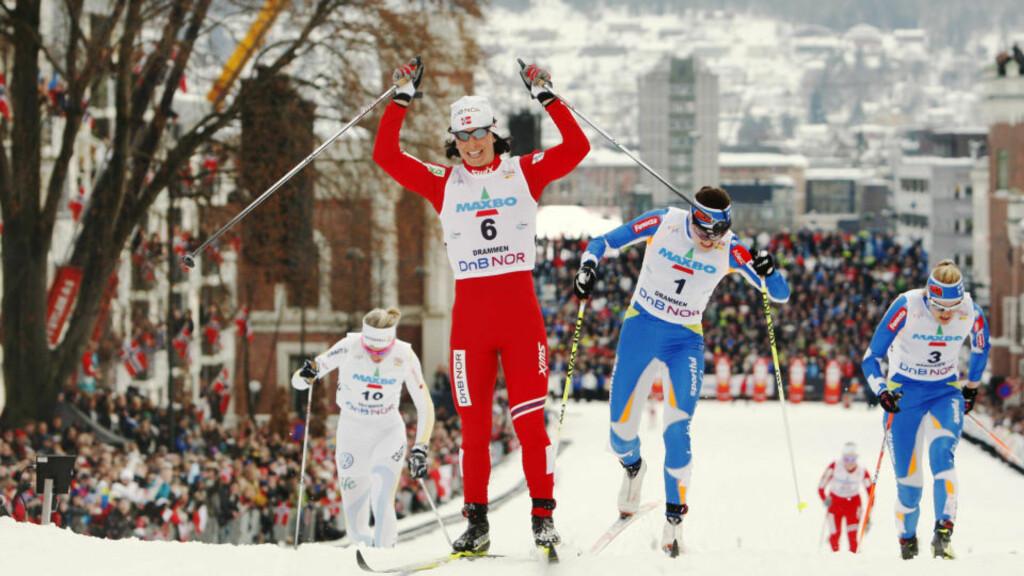 SKIFEST: For å få nye norske løpere som Marit Bjørgen trenger utøverne gode skoletilbud. Men nå er de effektive idrettsgymnasene truet. Foto: Erlend Aas / Scanpix