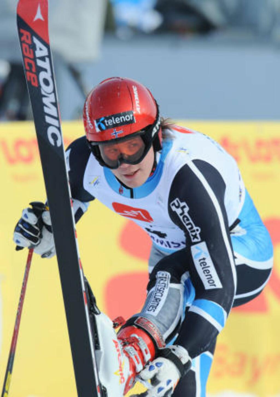I STORFORM: Kjetil Jansrud tror han kan avansere fra fjerde- til førsteplass. Foto: AFP PHOTO / SAMUEL KUBANI