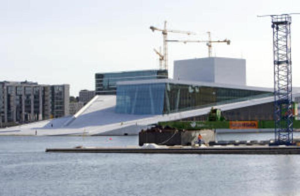 SLIK SKULLE DET SETT UT: Operaen manglet ikke granittplater i 2008. FOTO: Bjørn Sigurdsøn / SCANPIX