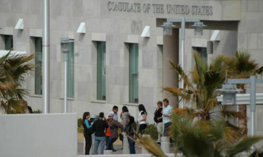 TILKNYTTET KONSULATET: De tre drepte er tilknyttet det amerikanske konsulatet i Ciudad Juarez. Foto: AP Photo/Scanpix