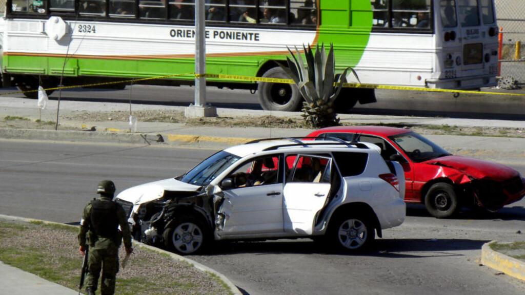 ANGREPET: Tre amerikanere ble drept i angrep fra narkobande. Foto: AFP PHOTO/Jesus Alcazar/SCANPIX