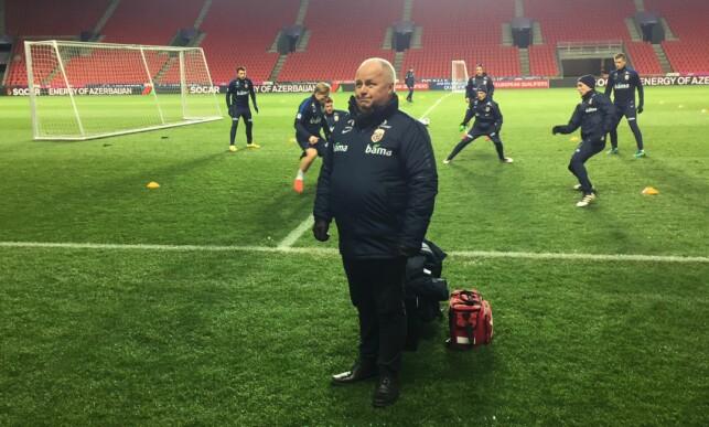 MEKTIG: Fotballpresident Terje Svenden vil være tungt inne i prosessen når Høgmo skal evalueres. Her på Eden Arena torsdag kveld. FOTO: TORE ULRIK BRATLAND
