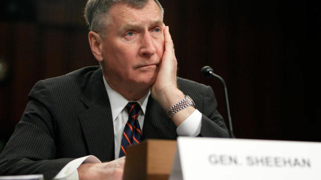 GIR HOMOFILE SKYLDA: Tidligere NATO-kommandør og eksgeneral John Sheehan. Foto: Alex Wong/Getty Images/AFP