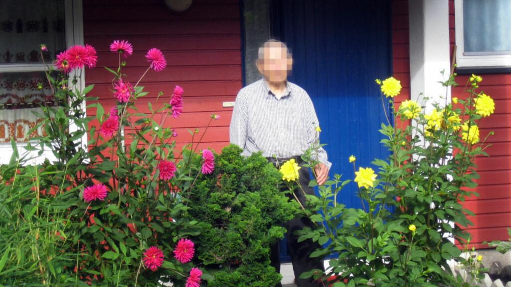 DØDE AV SKADENE: En kvinne (34) er tiltalt for å ha knivstukket og slått denne 90-årige mannen i hans leilighet. Han døde senere av skadene. 90-åringen beskrives som en elskverdig nabo som elsket blomster. FOTO: KNUT NILSEN