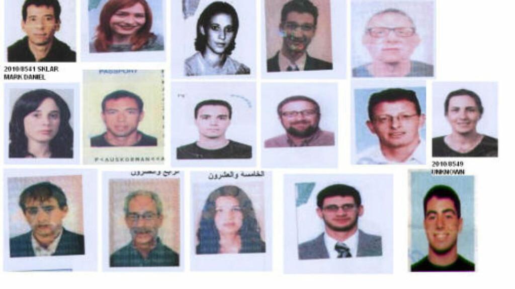 16 NYE ETTERSØKTE: Disse 16 mennene og kvinnene etterlyses i anledning drapet på Hamas-topp Mahmoud al-Mabhouh i Dubai 20 januar 2010. Det totale antallet er nå 27. Foto: Interpol