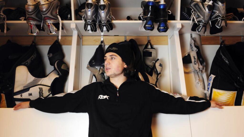 SPILLERNES VALG: Mats Zuccarello Aasen (22) har vært en sensasjon for svensk ishockey. I dag vant han gullhjelmen. Arkivfoto:  Erik Berglund/Dagbladet