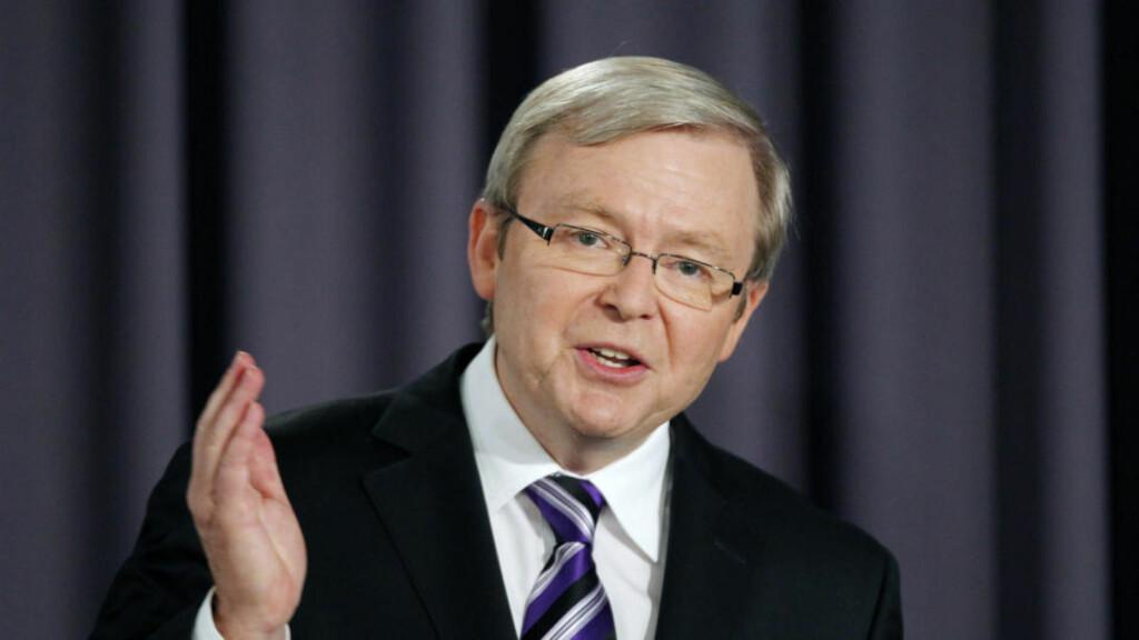 SENSURKÅT: Australias statsminister Kevin Rudd vil sperre tilgangen til stor mengder nettinnhold gjennom et nettfilter i regi av det australske medietilsynet. Foto: SCANPIX