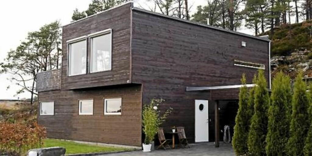 FERDIGHUS: Dette huset tok det seks måneder å sette opp, og da ble det gjort flere endringer innvendig. Foto: Bård Jørgensen