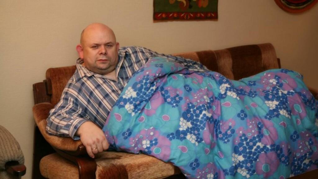 VIL IKKE TILBAKE: Bjørn Knotten forteller at han blir fysisk uvel når han drar opp til Kattmarka. Han ønsker ikke å flytte tilbake dit selv om alle all sikring av området er ferdig. Foto: Martin Hågensen