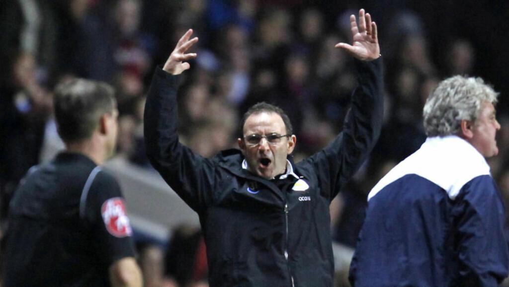 FNYSER AV TERRY-PÅSTANDER: Martin O'Neill slår tilbake mot John Terrys påstander om at Aston Villa er dårlig trent.Foto: SCANPIX/AFP PHOTO/IAN KINGTON