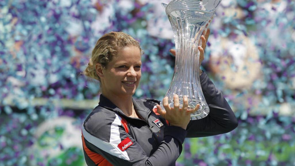 PÅ FULL FART MOT TOPPEN: Tidligere verdensener Kim Clijsters er på full fart oppover rankinglistene igjen etter comebacket. Lørdag var hun Venus Williams fullstendig overlegen i finalen i turneringen i Miami.Foto: SCANPIX/REUTERS/Andrew Innerarity