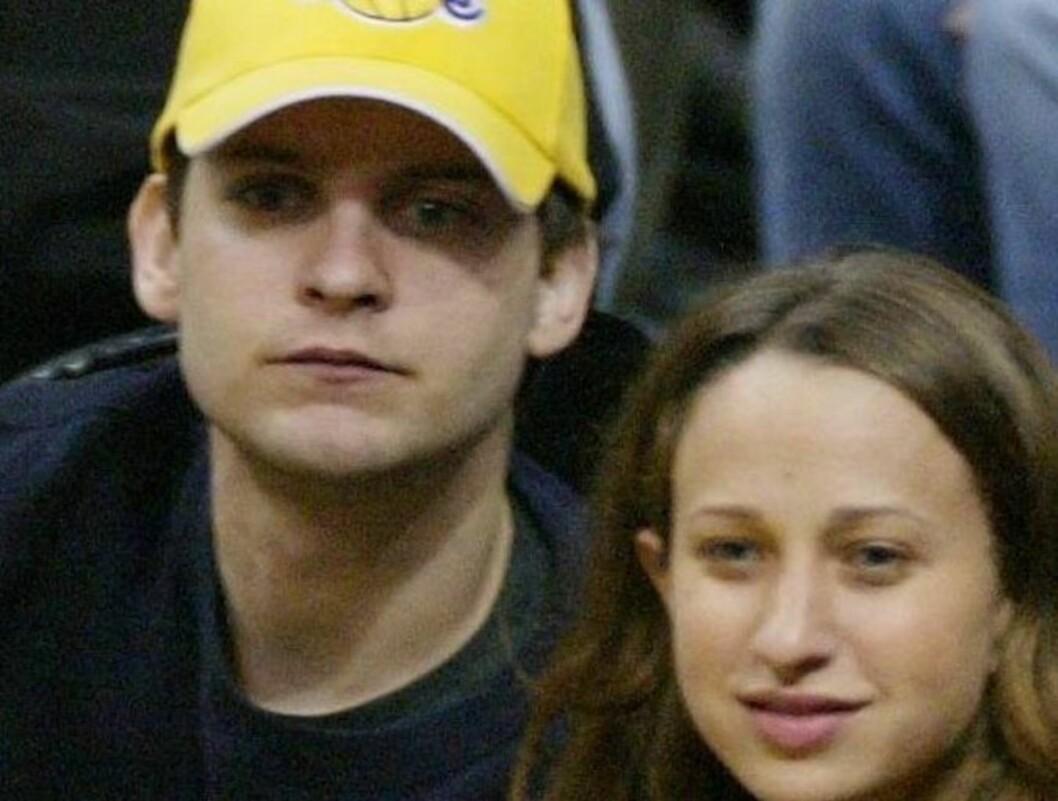<strong>BLIR FORELDRE:</strong> Tobey Maguire og hans forlovede Jennifer Meyer venter barn. Foto: All Over Press