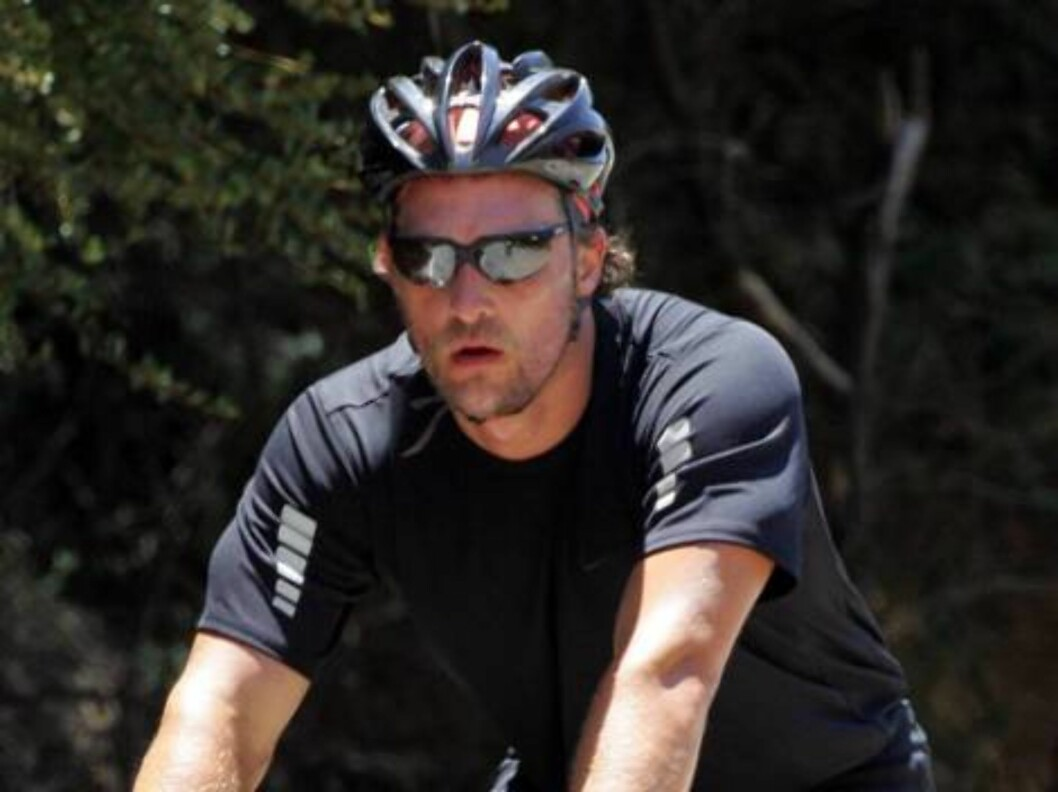 Amazing bike ride of Jake Gyllenhaal and Matthiew McConaughey led by Tour de France star Lance Armstrong in Malibu mountains. July 5, 2006 X17agency EXCLUSIVE Foto: All Over Press